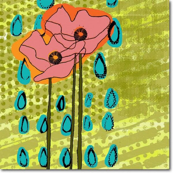Regina Allen 'Poppies & Ghosts II' Gallery Wrapped Art