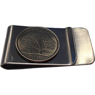 Handmade Connecticut State Quarter Coin Money Clip