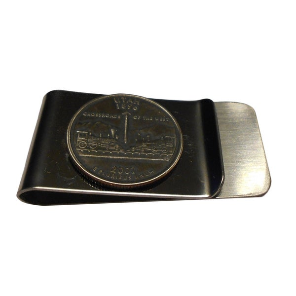 Handmade Utah State Quarter Coin Money Clip