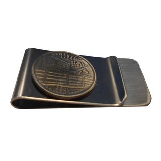 Handmade Kentucky State Quarter Coin Money Clip