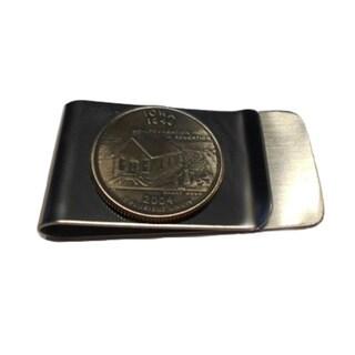 Handmade Iowa State Quarter Coin Money Clip