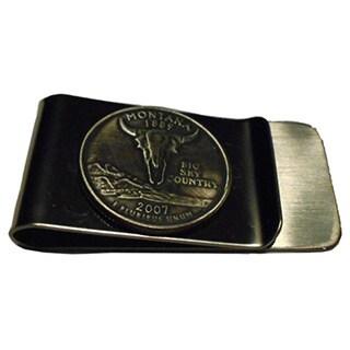 Handmade Montana State Quarter Coin Money Clip