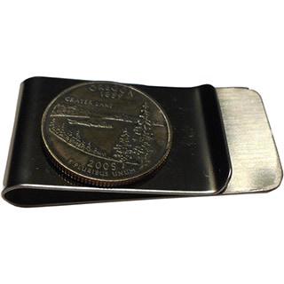 Handmade Oregon State Quarter Coin Money Clip