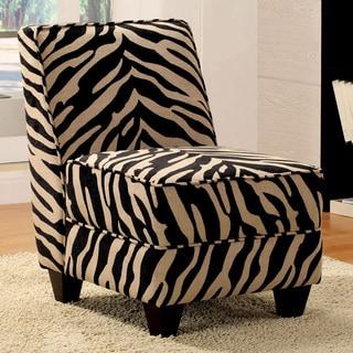 Makala Zebra Fabric Accent Chair