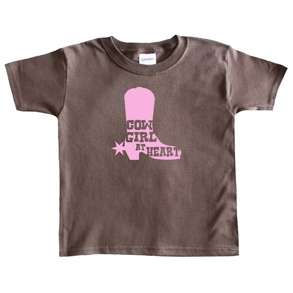Rocket Bug Cowgirl at Heart Cowgirl Boot Toddler T-shirt