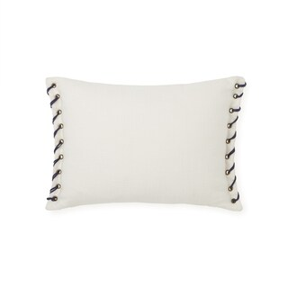 Tommy Hifiger Leather Whip Stitch Throw Pillow