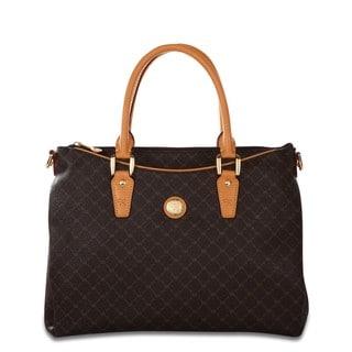 Rioni Signature Brown Trendy Satchel Bag