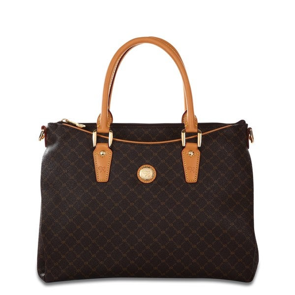 Rioni Signature Brown Trendy Satchel Bag