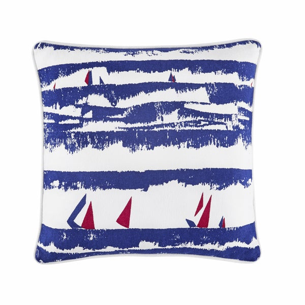 Tommy Hilfiger American Regatta Blue/Red 18-inch Throw Pillow