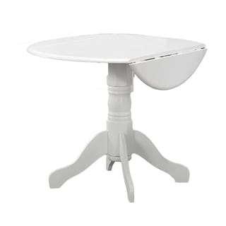 White Round Drop Leaf Table