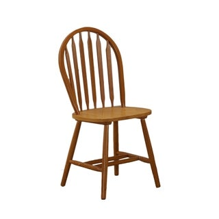 Chestnut Oak Windsor Back Chair (Set of 2)