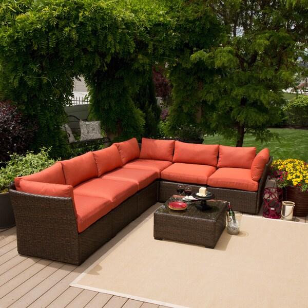 Palo Alto 7 Piece Wicker Sofa Set