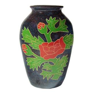 Pottery - Desert Rose Floral vase.