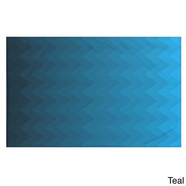 Stripes Print Teal/ Blue/ Aqua/ Green/ Dark Grey/ Rust/ Purple 50 x 60-inch Throw Blanket