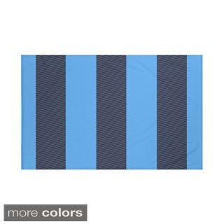 Stripes Print Navy Blue and Blue/ Green/ Red and Blue/ Yellow 60 x 80-inch Throw Blanket
