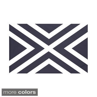 Stripes Print Navy Blue/ Blue/ Green/ Red/ Yellow 60 x 80-inch Throw Blanket