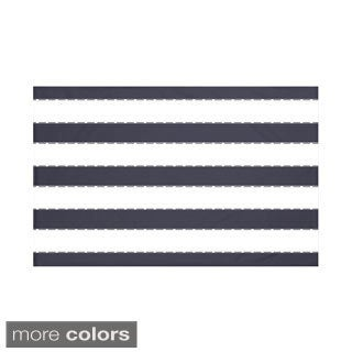 Stripes Print Navy Blue/ Royal Blue/ Brown/ Coral/ Rust 60 x 80-inch Throw Blanket