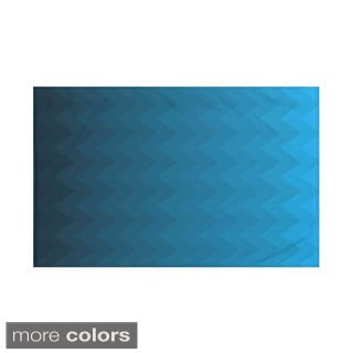 Stripes Print Teal/ Blue/ Aqua/ Green/ Dark Grey/ Rust/ Purple 60 x 80-inch Throw Blanket