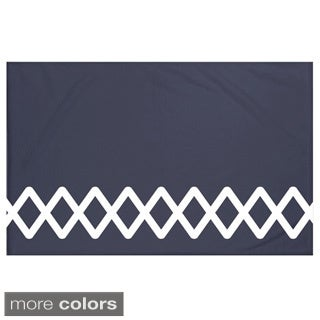 Geometric Print Navy Blue/ Blue/ Green/ Grey/ Yellow 60 x 80-inch Throw Blanket