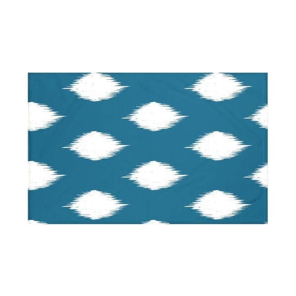 Geometric Teal Off White/ Blue Off White/ Royal Blue Off White/ Coral Off White/ Taupe Off White Throw Blanket