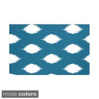 Geometric Teal Off White/ Blue Off White/ Royal Blue Off White/ Coral Off White/ Taupe Off White Throw Blanket