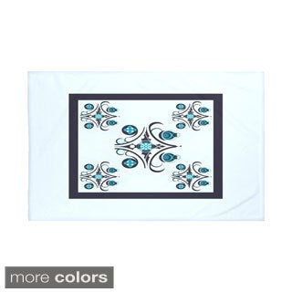 Geometric Print Light Blue and Navy Blue/ Aqua and Teal/ Off White and Green/ Taupe and Rust 60 x 80-inch Throw Blanket