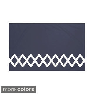 Geometric Print Navy Blue/ Blue/ Green/ Grey/ Yellow 50 x 60-inch Throw Blanket