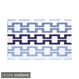 60 x 80-inch Geometric Print Throw Blankets