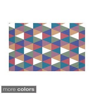 60 x 80-inch Geometric Print Throw Blankets