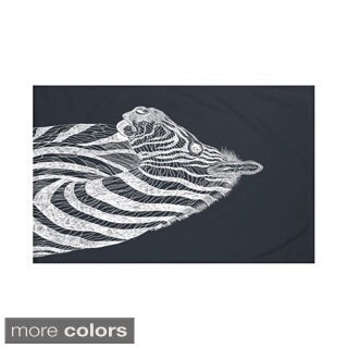 60 x 80-inch Animal Print Throw Blankets