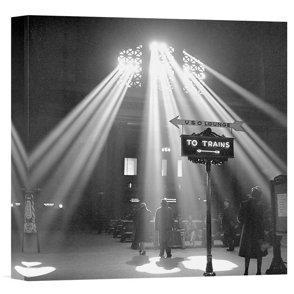 Jack Delano 'Sunbeams in Chicagos Union Station, 1943' Stretched Canvas Artwork