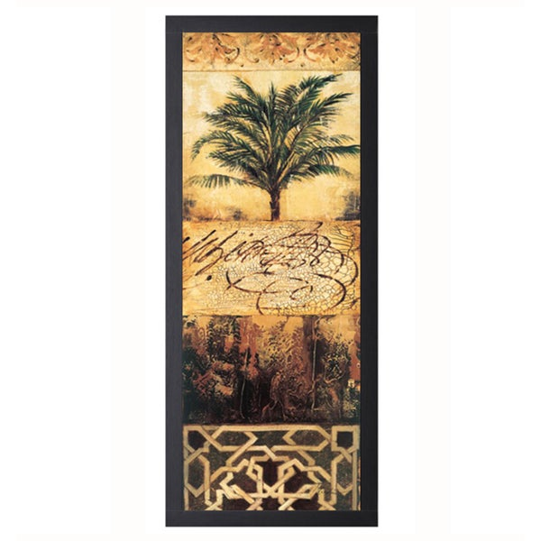 Liz Jardine-Palm Manuscripts ll 16 x 40 Framed Art Print