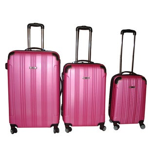 Travel Concepts Pink 3-piece Hardside Spinner Luggage Set