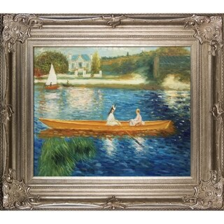 Pierre-Auguste Renoir Boating on the Seine Hand Painted Framed Canvas Art