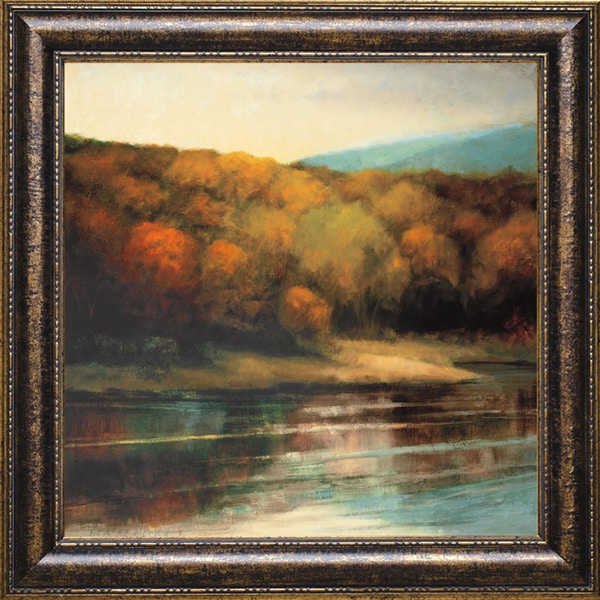 Robert Striffolino-Late September Shore 31 x 31 Framed Art Print