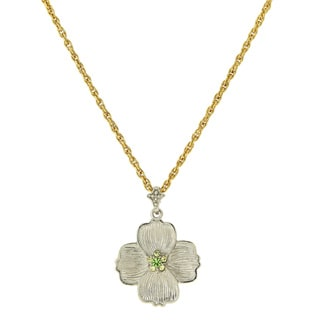 The Vatican Library Collection Goldtone Dogwood Pendant Necklace