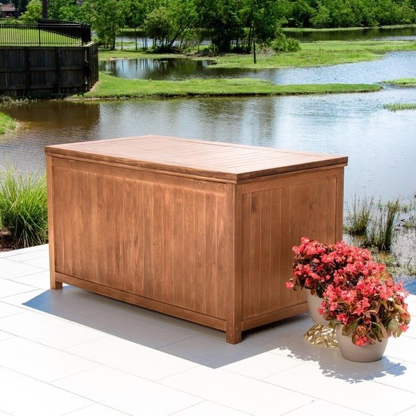 Pelican Hill 55 x 30 Dark Brown Wood Storage Box