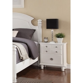 Militza French Dovetail White Finish Nightstand