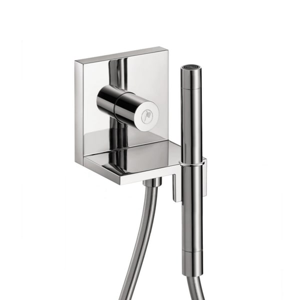 Axor Starck Volume Control, , Wall Outlet And Holder Chrome Handshower