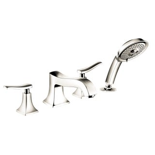 Hansgrohe Metris C 4-Hole Polished Nickel Tubfiller