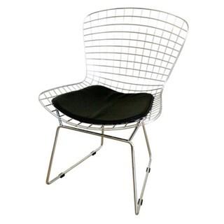 Chrome Faux Leather Modern Chair