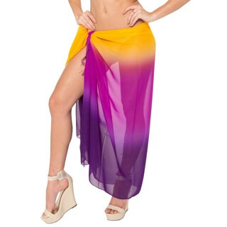 La Leela Bikini Cover up Sarong Beachwear Swimsuit Swimwear Wrap Pareo Bathing SUN Dress