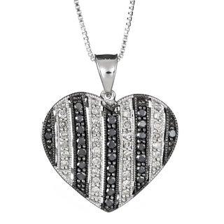 Sterling Silver 1/2ct TDW Diamond Heart Shaped Pendant (H-I, I2-I3)
