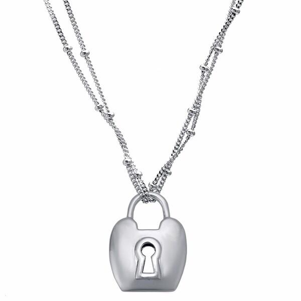 Sterling Silver Lock Pendant