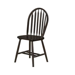 Espresso Windsor Back Dining Chair (Set of 2)