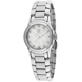 ESQ Women's 07101328 Quest Round Silvertone Bracelet Watch