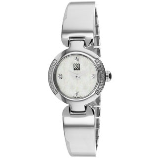 ESQ Women's 07100975 Love Knot Round Silvertone Bracelet Watch