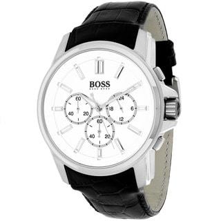 Hugo Boss Men's 1513033 Classic Round Black Leather Strap Watch