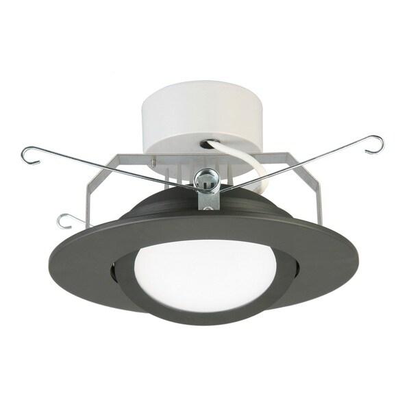 Lithonia Lighting 6-inch Matte Black 3000K LED Recessed Gimbal Module