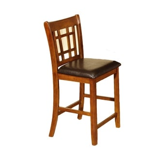 Counter Height Oak Finish Chair (Pack of 2)